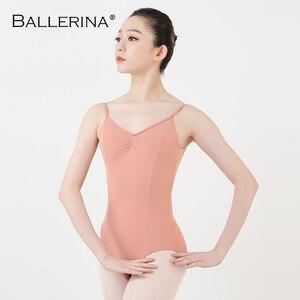 Image 4 - Balletto Body Backless Delle Donne Della Ragazza di Balletto Per Adulti Ginnastica Body Body Abiti Da Ballo Ballerina 5549