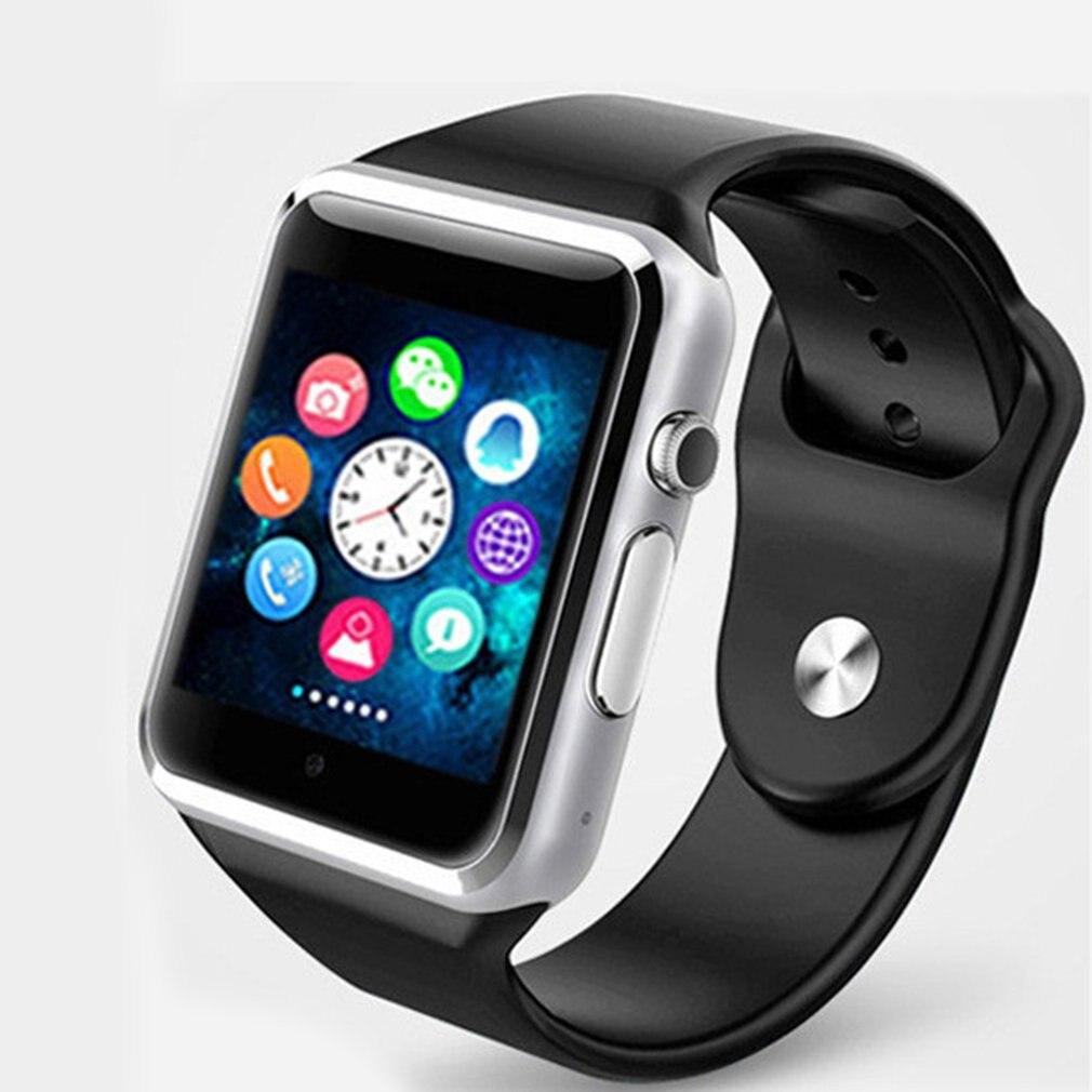 Tüketici Elektroniği'ten Akıllı Saatler'de A1 profesyonel akıllı kol saati 2G SIM TF kamera su geçirmez GSM telefonu büyük kapasiteli SIM SMS Android için iPhone title=