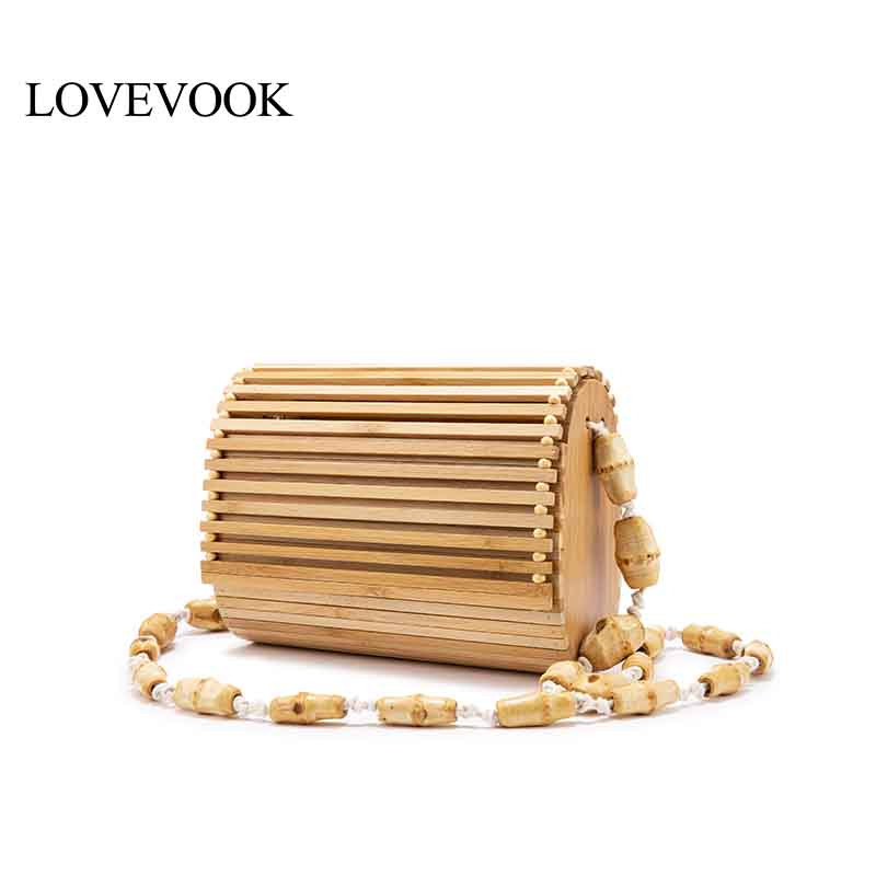 LOVEVOOK Messenger-Bag Bamboo-Bag Crossbody-Shoulder-Bag Beach-Flap Wood Summer High-Quality