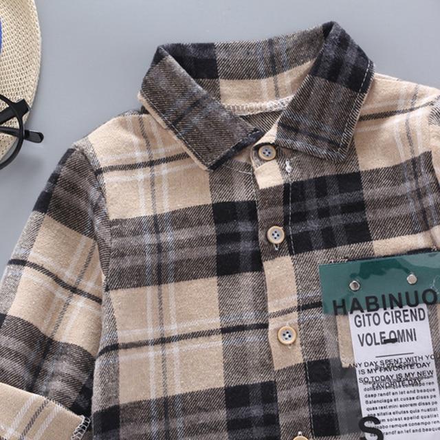 Baby Boy's Plaid Cotton Long Sleeve Shirt 4