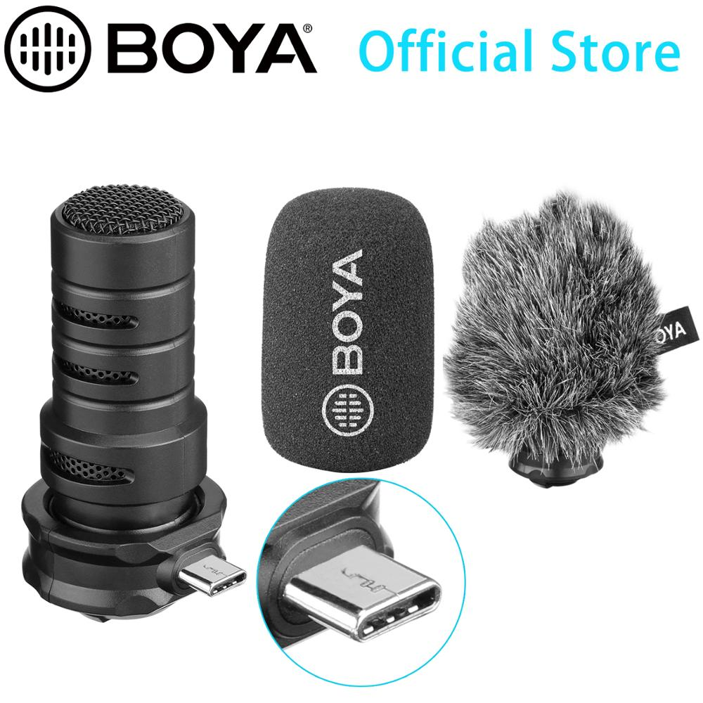 BOYA BY-DM100 Shotgun Microphone For Android Digital Condenser Stereo Microphone Superb Sound USB Type-C Devices Recording