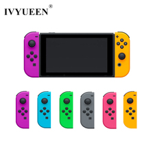 Ivyueen Cho Nintend Switch NS Joy Con Nhà Ở Vỏ Ốp Lưng Màu Vàng Xanh Lá Hồng Trái/Phải Joycon Điều Khiển Game phụ Kiện