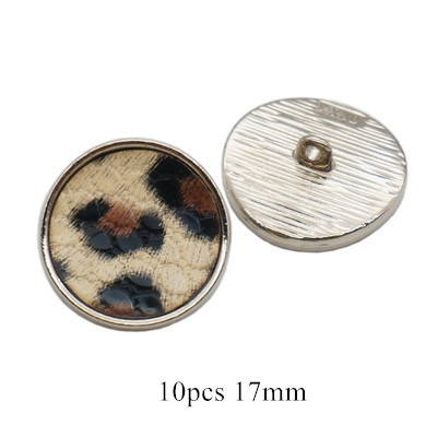 17 мм/25 мм квадратные плоские пуговицы в форме Луны, леопардовая ткань, пуговицы ручной работы, аксессуары для украшения скрапбукинга - Цвет: 10pcs