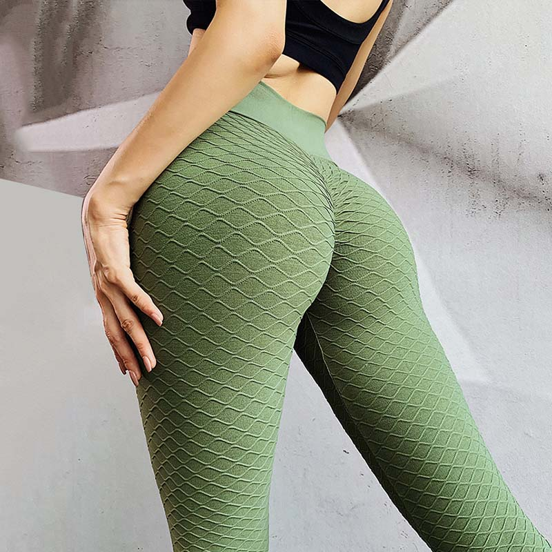 Fashion Women Fitness Leggings Sexy Hips Push Up Leggings Seamless Leggings Sport Running Pants High Waist Wavy Line Leggings