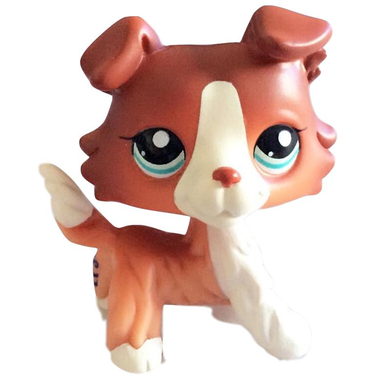 LPS Rare Pet Shop Toys Stands Short Hair Cat Original Kitten Husky Puppy Dog Fox Cute Animal Old Collection Figures