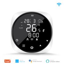 Tuya inteligentne Wifi termostat regulator temperatury do wody elektryczne ogrzewanie podłogowe kocioł gazowy wody współpracuje z Alexa Google Home tanie tanio NONE CN (pochodzenie) Smart Wifi Thermostat Temperature Controller TuyaSmart Smart Life 90~240V Smart thermostat for electric heatin