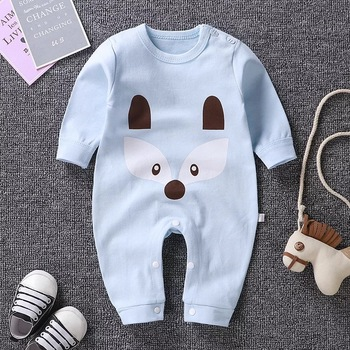 Newborn Baby Boys Girls Clothes  Romper Cartoon Long Sleeve Cotton Toddler  Kids Jumpsuit Infant Playsuit Outfits pudcoco cute newborn kids baby girl infant lace romper dress jumpsuit playsuit clothes outfits