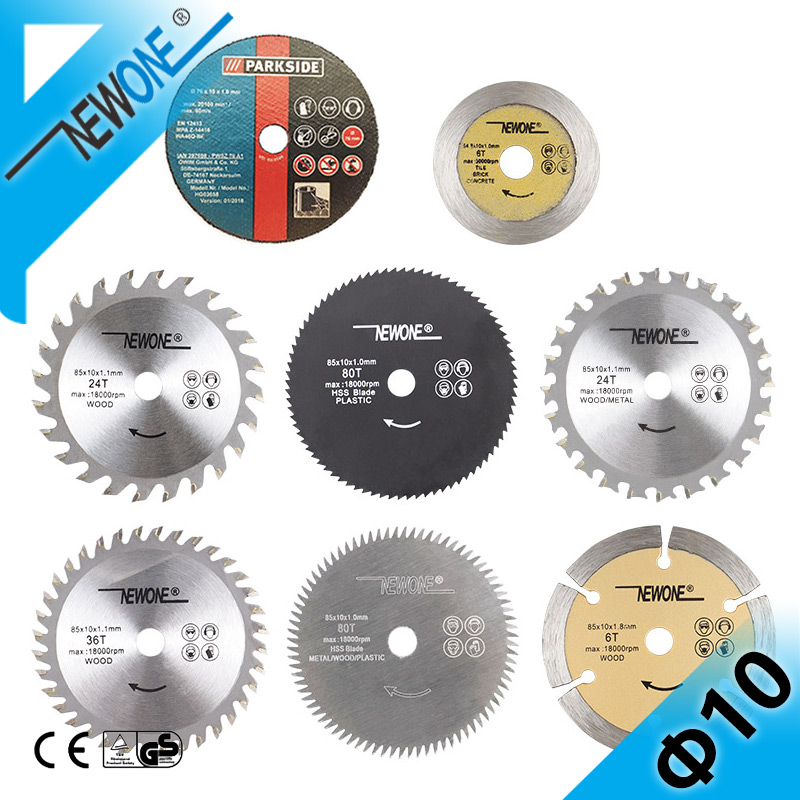 NEWONE 10mm Nitride Coating HSS Circular Saw Blade Wood/Metal Cutter 60T/80T TCT Wood Cutting Disc Saw Blade