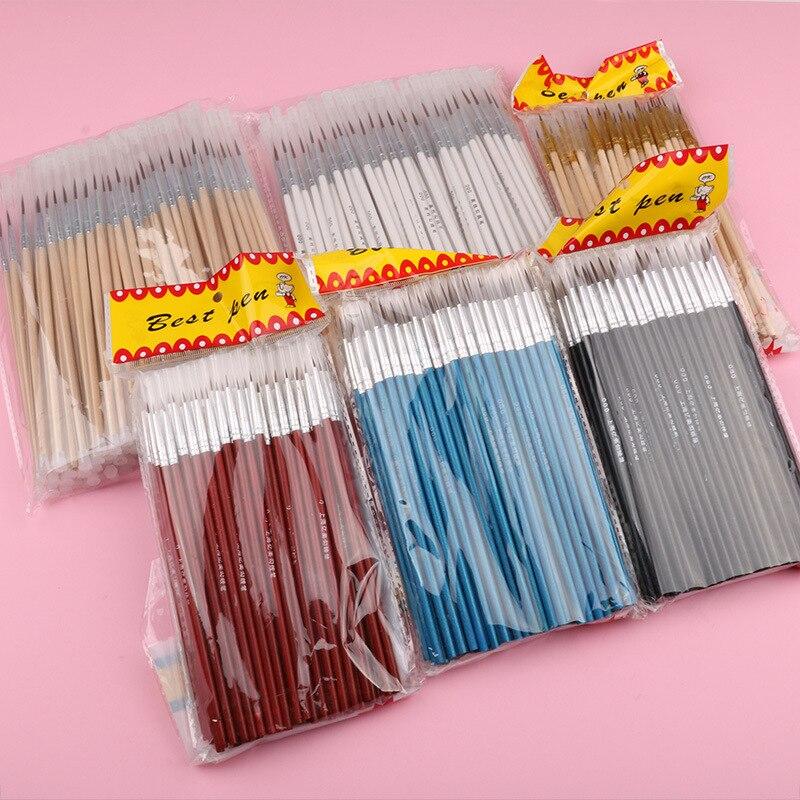 100 pcs set fino mao pintado linha de gancho fino caneta multicolorido baton desenho arte caneta