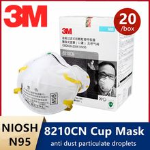 3M 8210CN N95 Face Mask Respirator 3D KN95 Particulate Proof Cup maske Filtering NIOSH Rubber Headband Industrial Dust Smoke