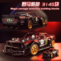 3145pcs Ford Mustang Retro Wheels Mini Car Gifts DECOOL Technic Bugatti Land Rover Racing Car building blocks toys for Boy 42083