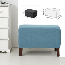 Case Slipcovers Footstool-Pedal Ottoman Rectangle Spandex Elastic Home-Furniture Sofa