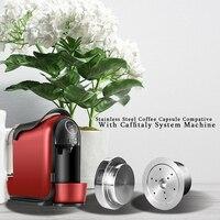 Aço inoxidável caffitaly café cápsula reutilizável wacaco minipresso ca fabricante recarregável filtro de café para tchibo cafissimo aldi Filtros de café     -