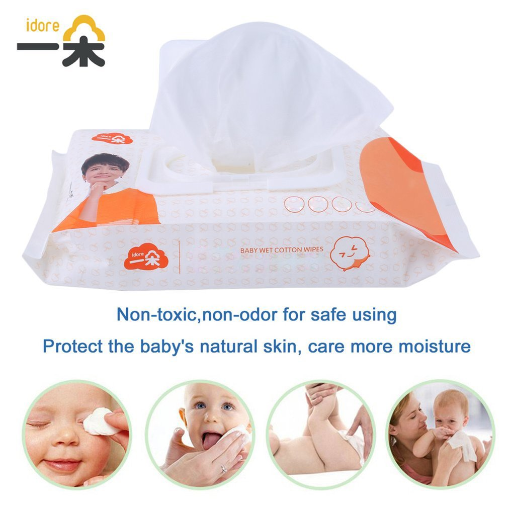Soft Toddlers Infant Wet Cotton Wet Wipes For Baby Disposable Tissue Disinfection Sterilization Skin Cleanser Care