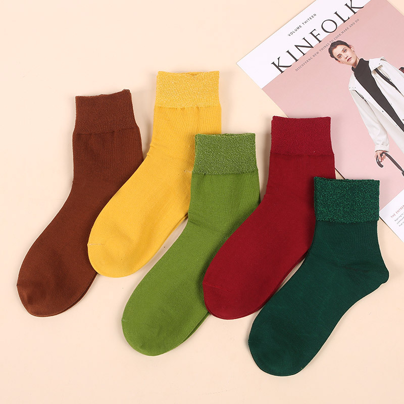 Socks Women's Tube Stink Prevention Hosiery Not Feel Tight with Feet xi han wa Spring Summer Comfortable Diabetes Socks Men Rele