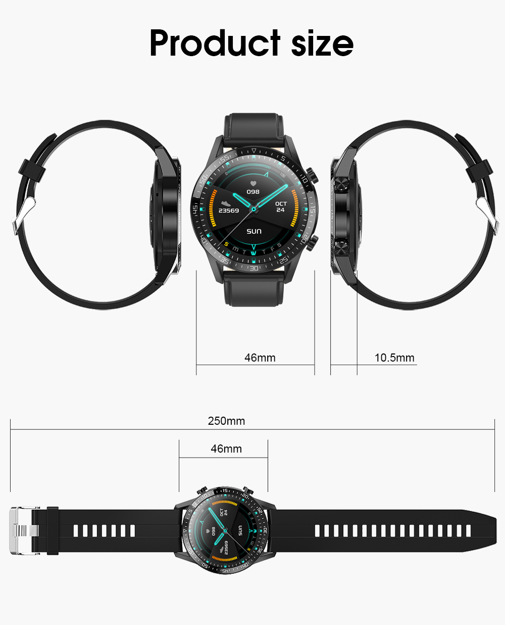 Hbc85c350b4344494bb3439c1cdd0c985l IPbzhe Smart Watch Men Thermometer ECG Smart Watch IP68 Waterproof Blood Pressure Smartwatch Reloj Inteligente For Huawei Xiaomi