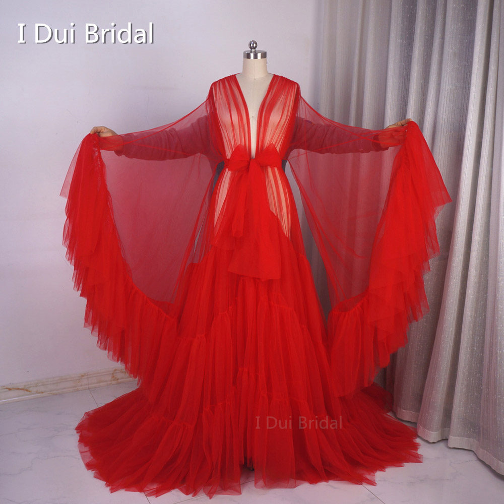 Hollywood Robe Tulle Dressing Gown Performance Chic Outfit Drag Queen Photography Dress