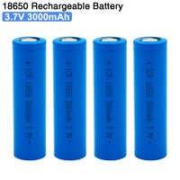 Baterias recarregáveis da bateria do íon de 18650 3.7 v 3000 mah li para a capacidade real da bateria da ferramenta elétrica do e-cigarro da lanterna led