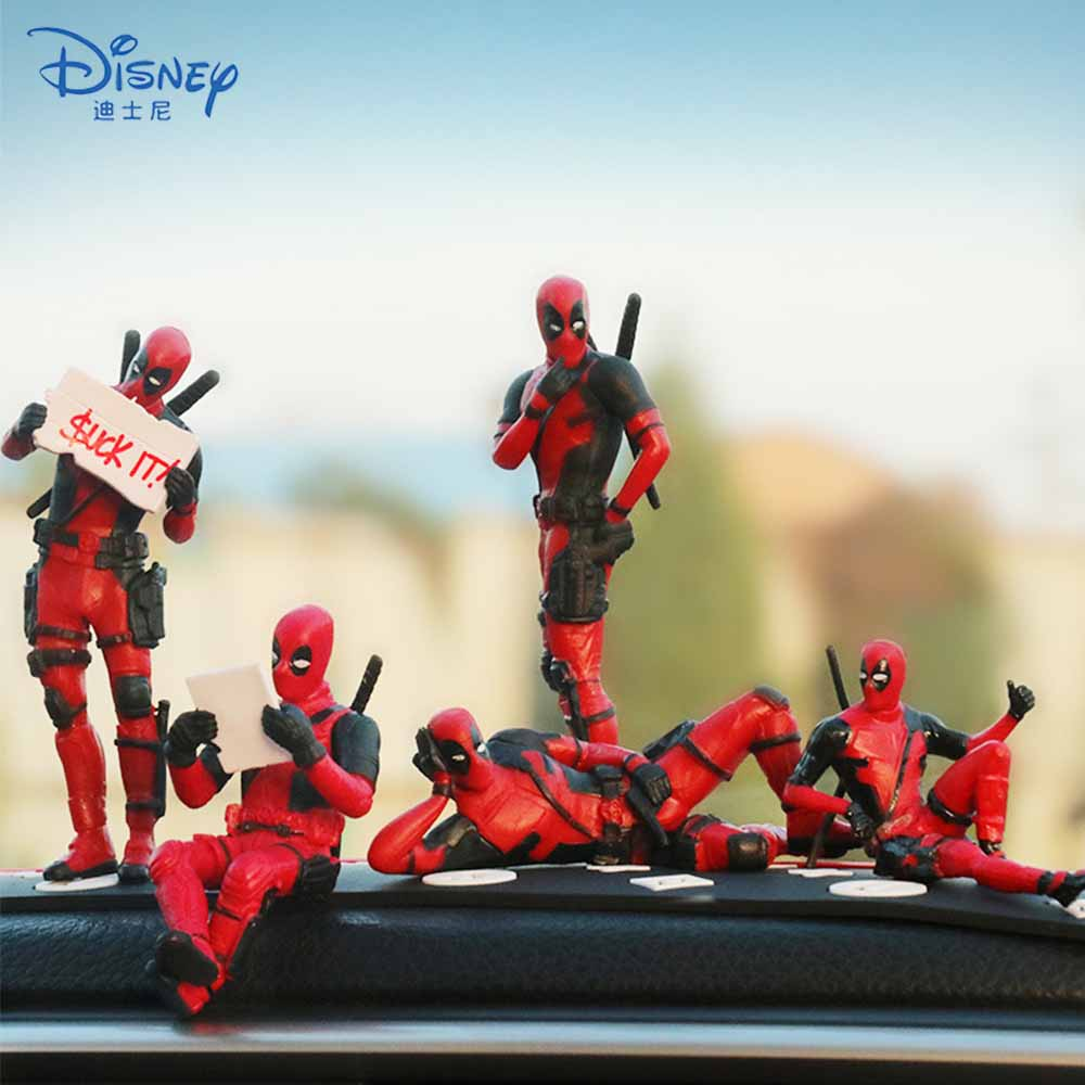 Disney X-Men Deadpool 2 Action Figures Toy Mini Sitting Posture Doll Anime Movie Marvel Figurine Collection Model Kids Toy Gifts