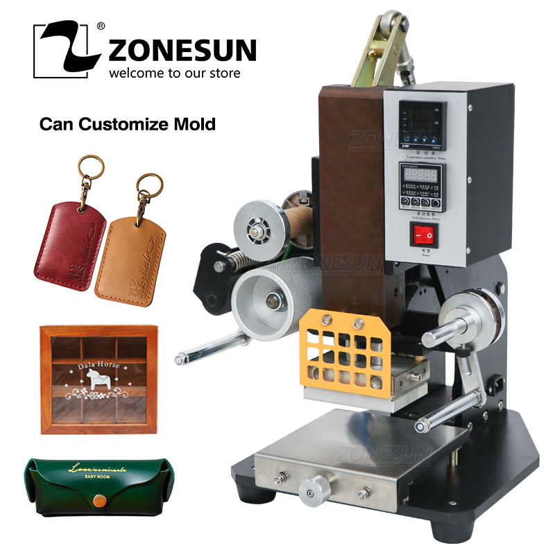 ZONESUN ZSP-890K 高品質自動名刺革ロゴホット箔スタンピングしわエンボス機熱プレス機