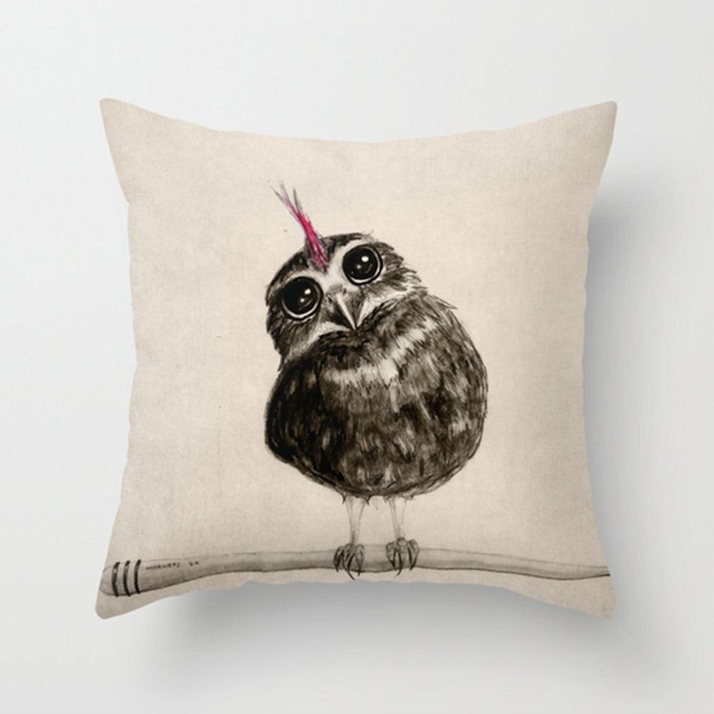 """Cute Pillow Case Cushion Cover Pillow Cover Cushion Case Pillowcase Sofa Home Office Decorative 18"""" x 18""""Cute bird"""
