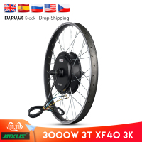MXUS V3 72V 3000W Brushless Non-Gear Hub Motor Electric Bicycle Rear Wheel Motor Ebike Conversion Kit Mountain Dirt Bike Motor