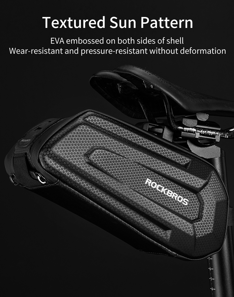 ROCKBROS1.7L Bicycle Bag Waterproof Rear Large Capatity Quick Release Seatpost Shockproof Double Zipper Rear Bag Accessories