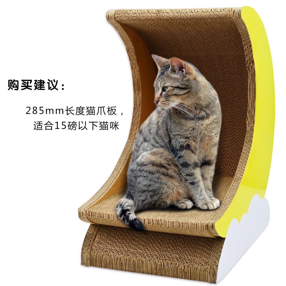 Cat scratch plaat gegolfd papier kat spelen board kat speelhuis kat krabpaal dierbenodigdheden kat speelgoed knagen speelgoed - 3