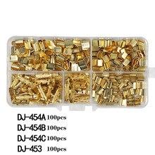 400 ppcs dj454 0.5-6.0mm2 u-em forma de fio de cobre friso terminal frio prensagem conectores cabo talão para fio guia terminal