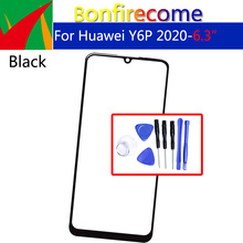 For Huawei Y6P 2020 Front Outer Glass For MED-LX9N ART-L29 Touch Screen Glass Panel Replacement Parts NO LCD Digitizer