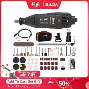 Image 1 - HILDA wiertarka i szlifierka elektryczna, dremel, pióro do grawerowania, mini, narzędzie obrotowe, akcesoria