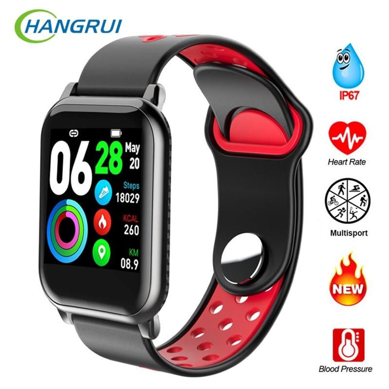 Hangrui 2020 Smart Bracelet Band With Heart rate Monitor Blood Pressure Waterproof Fitness Tracker Wrisatband Smart Watch Men