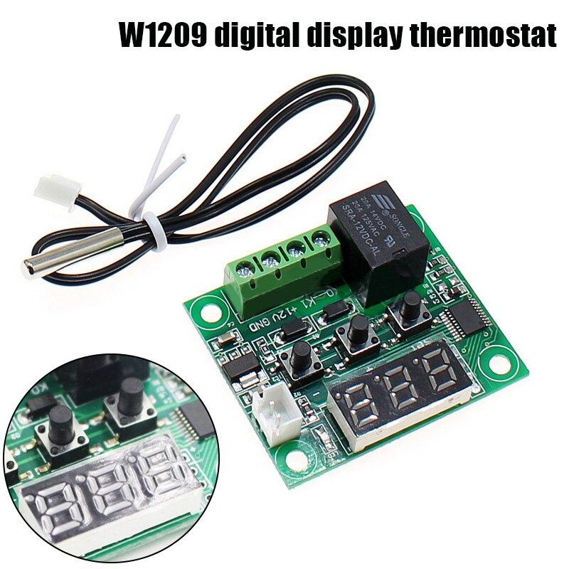 Цифровой термостат с регулятором температуры, 12 В постоянного тока, W1209