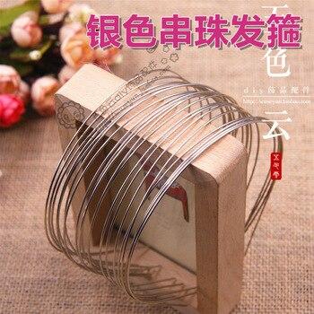 Envío Gratis, diademas en blanco de 20X1,5mm, banda metálica para el cabello, lotes de accesorios DIY