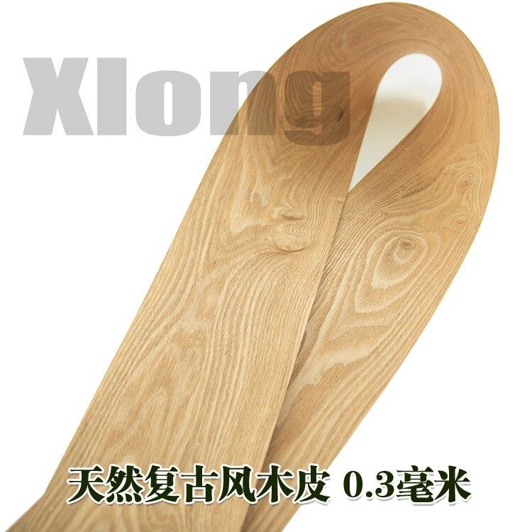 2pcs L:2.5Meters Width:200mm Thickness:0.3mm Vintage Wood Veneer Solid Wood Veneer Speaker Veneer Basic Material Manual Veneer