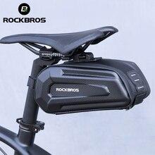 ROCKBROS borsa da sella per bicicletta 3D Shell antipioggia riflettente antiurto ciclismo tubo bici coda posteriore borsa reggisella accessori bici
