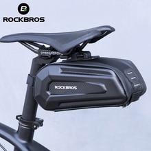 ROCKBROS sac de selle de vélo 3D coque étanche à la pluie réfléchissant antichoc vélo vélo Tube arrière queue tige de selle sac vélo accessoires