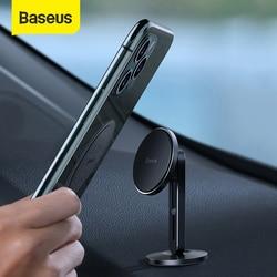 BASEUS Magnetic Mobil Ponsel Pemegang untuk iPhone X 11 Samsung dengan Menjepit Fungsi Jenis Pasta Mobil Gunung Stand Telepon Magnet pemegang