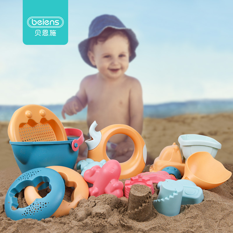 Soft Plastic Beach Toys Summer Water Outdoor Kinetic Bucket Sand Box Tray Mold Beach Games Juguetes De Playa Water Table CC50BT