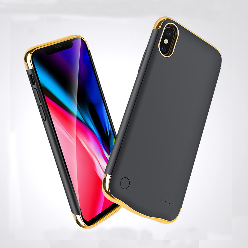 5500mAh 6000mAh Ultra Slim Battery Charger Case For iPhone X XS MAX XR Battery Case Power Bank Case External Backup Charger Case in Battery Charger Cases from Cellphones Telecommunications