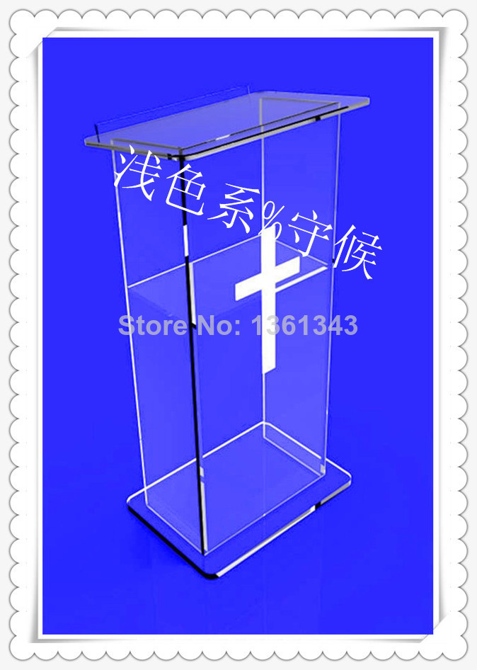Hot Selling/Contemporary Frosted Cheap Acrylic Church Lectern