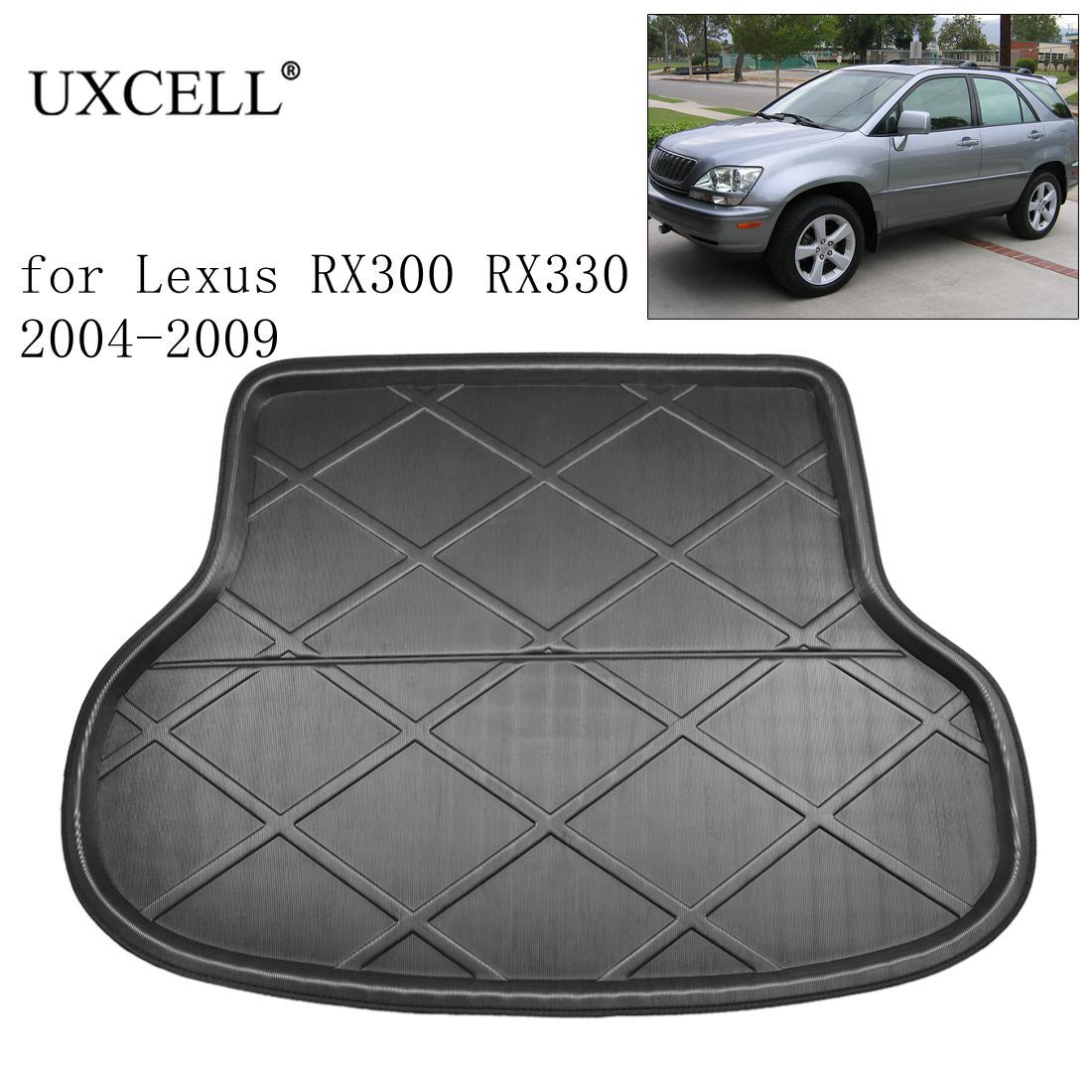 UXCELL PE+EVA Foam Plastic Rear Car Trunk Boot Liner Cargo Mat Floor Tray Cover Pad For Lexus RX300 RX330 RX270 RX350 2004-2015