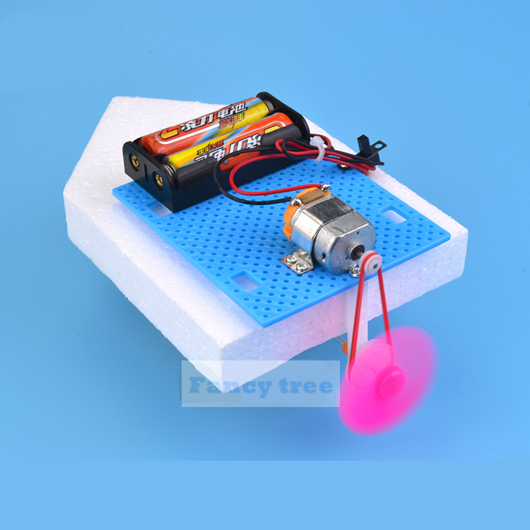Physics Science Experiment DIY Assembly Boat Building Kits Kids DIY Electric Motor Boat Best Gifts For Kids Children