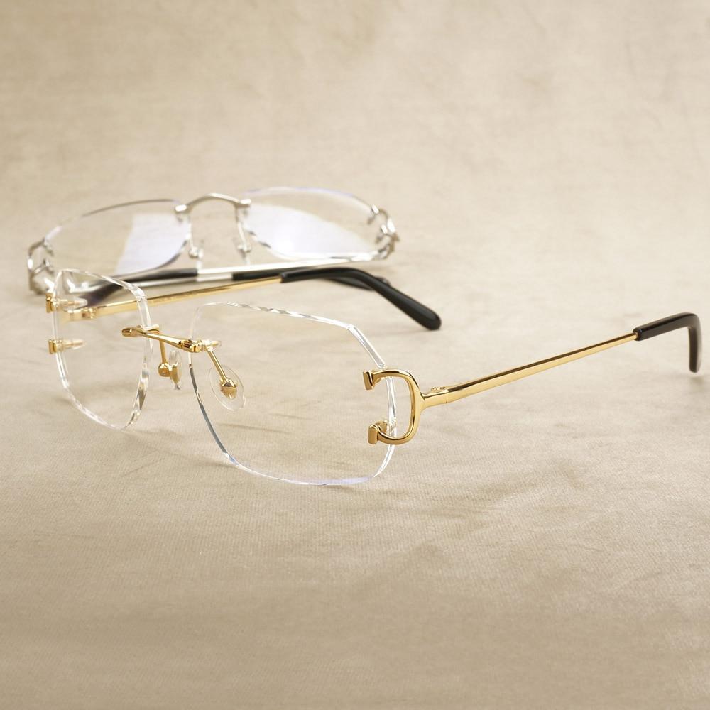 Computer Glasses Frame Polygon Clear Glasses For Men Carter Eyeglasse Luxury Transparent Spectacles Frame For Reading Decoration