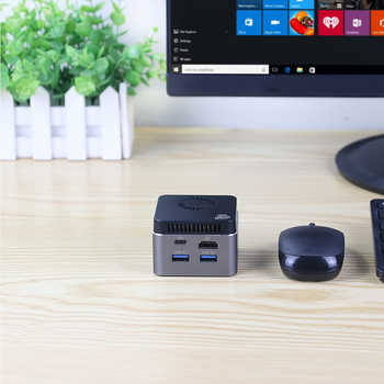XCY Mini PC Intel Celeron N4100 Quad-Core 8GB LPDDR4 128GB SSD 2.4G/5.0G WiFi Bluetooth 4.2 HDMI2.0 60Hz 4K Computer Windows 10