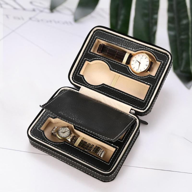 4 Slots Retro Leather Watch Box Rectangle Jewelry Storage Case Organizer Travel Case Storage Organizer Dropshipping
