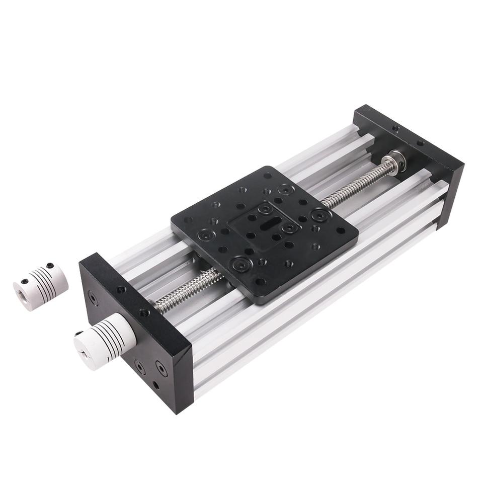Color : Lead 2MM, Size : 150MM Tegent 3D-Drucker Z-Achse T8 Leitspindel Z-Achse DIY C-ray CNC Slide Linearaktor Kit 300mm 400mm 500mm