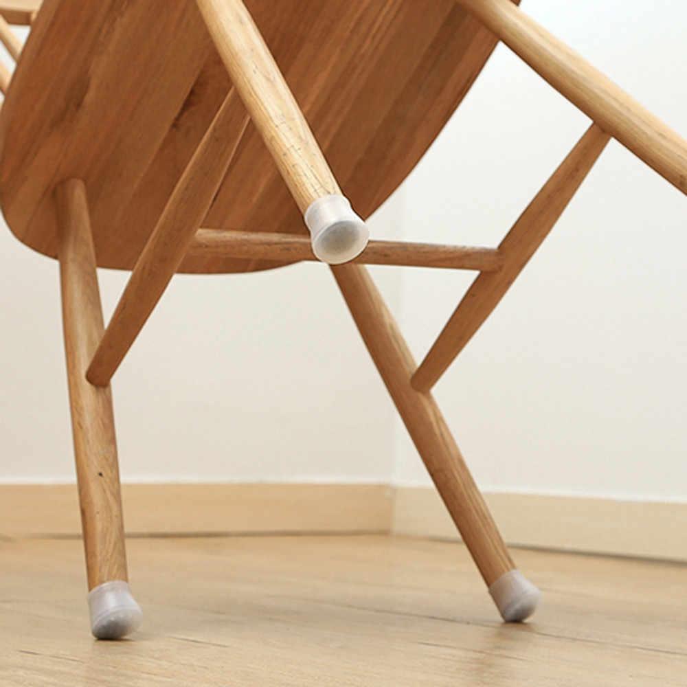 4 stuks vierkante siliconen stoel been caps antislip Tafel Voet stofkap Sokken Floor Protector pads pijp stekkers meubelen stelpoten