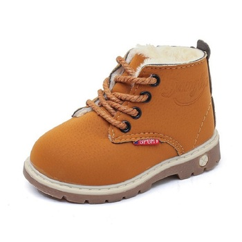 2019 New Fashion Ankle Kids Winter Warm Plush Snow boots Boys Toddlers Leather Boots Children Winter Waterproof Shoe Baby 1 2 3 4 5 6 Year Old Yellow Wine Red Black new rivet children s autumn girl ankle boots for kids martin snow fashion waterproof winter shoe 4 5 6 7 8 9 10 11 12 year old