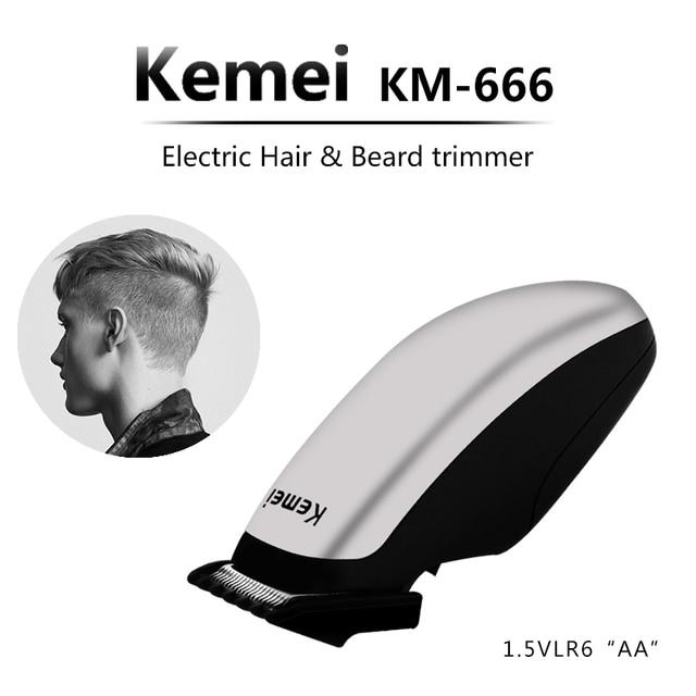 Kemei di Nuova Progettazione Elettrica Tagliatore di Capelli Mini Capelli Trimmer Macchina di Taglio Barba Barbiere Rasoio Per Gli Uomini di Stile Strumenti di KM-666 AOSAIDI APPLIANCE Store